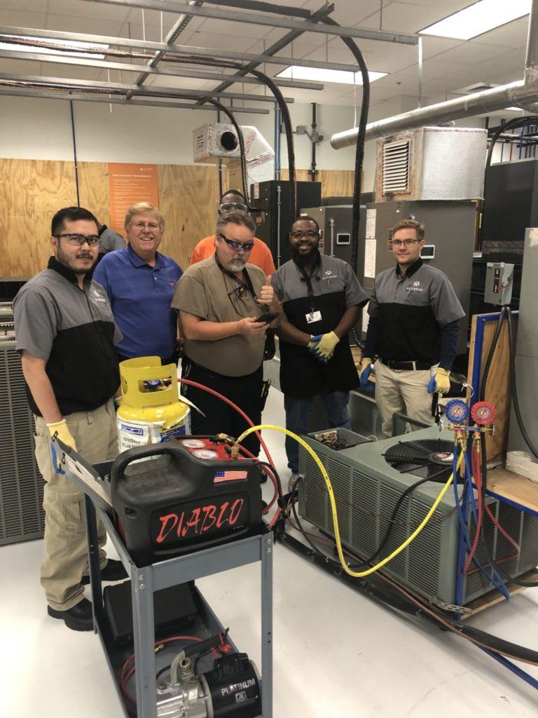 AccuAir with HVAC students